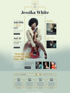 Adaptive web template # 53536 for singer site. Additional features, complete documentation and photo bank. Cv Website, Website Layout, Website Themes, Web Layout, Layout Design, Website Designs, Website Ideas, Band Website, Design Sites