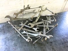 """large chrome bowl welded wrenches 19 3/8"""" x 7 3/8"""" high 2013"""