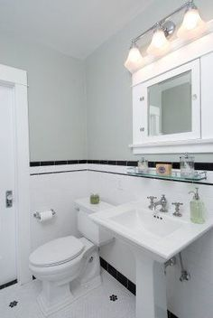 new home construction: A Vintage Bungalow Bathroom Renovation Small White Bathrooms, White Bathroom Decor, Bathroom Styling, Bathroom Interior Design, Small Bathroom, Bathroom Towels, Bathroom Wall, Bungalow Bathroom, Craftsman Bathroom