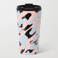 Society6's new metal travel mugs have a wraparound design and are crafted with lightweight stainless steel, keeping drinks hot or cold.