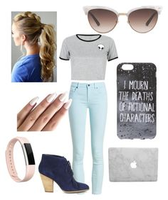 """""""School"""" by aaliyah-marie-garza on Polyvore featuring Barbour, WithChic, Sole Society, Gucci and Fitbit"""