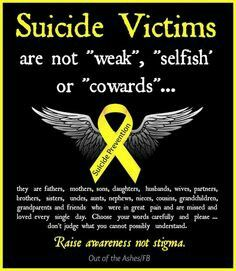 Suicide is never selfish