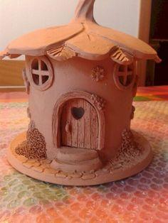 120 Easy And Simply To Try DIY Polymer Clay Fairy Garden Ideas 107 - 15 diy House clay ideas Clay Houses, Ceramic Houses, Pottery Houses, Clay Fairy House, Fairy Houses, Diy Clay, Clay Crafts, Polymer Clay Fairy, Clay Fairies