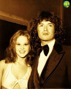My ex girlfriend Linda Blair and yours truly at the American Music Awards in Hollywood, September 1976