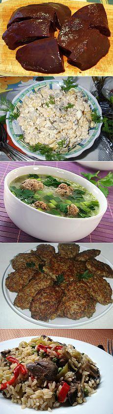 Блюда из печени. Рецепты + фото. Приготовление печени, ризотто, бифштекса, салата и супа