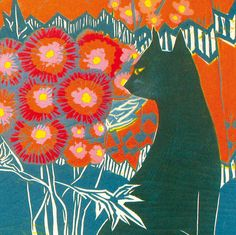 Carol Lander, Cat and Flowers