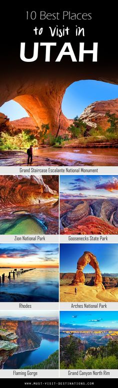 Some would argue that Utah is a state destined for nature lovers; and while there's no arguing about tastes, one thing is certain: it does have jaw-dropping, natural attractions by the bucket loads. Here are 10 Best Places To Visit In Utah travel usa Oh The Places You'll Go, Cool Places To Visit, Best Places In Usa, Beautiful Places To Travel, Best Places To Travel, Voyage Usa, Destination Voyage, Parcs, Future Travel