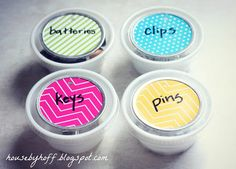 Upcycled Dip Container Organizers - House by Hoff