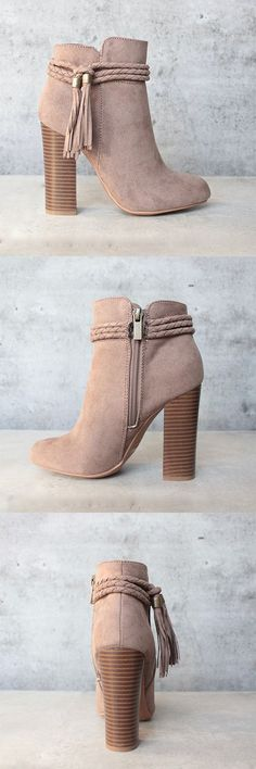 vegan suede 'enchanted' tassel detail bootie - more colors - shophearts - 1                                                                                                                                                                                 More