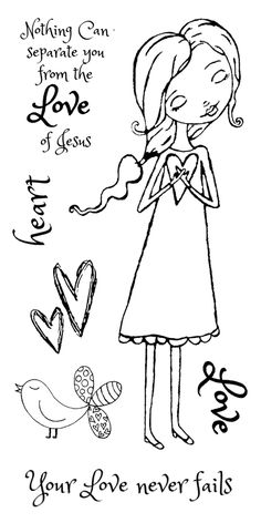 God's Girls Acrylic Stamps-Love