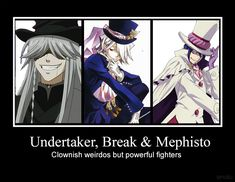 Black Butler, Pandora Hearts, and Blue Exorcist Rin Okumura, Mephisto, Black Butler Undertaker, Black Butler Anime, Manga Anime, Anime Demon, Manga Girl, Anime Girls, Anime Art