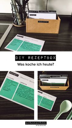DIY REZEPTBOX - What I cook today? – This is probably the question of all questions. To spare you long hours Consi -
