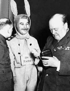 Joseph Stalin in a bunny costume
