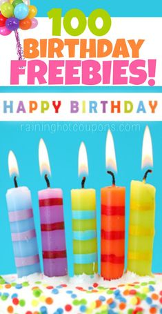 Birthday Freebies: HUGE List of Over 200 Birthday Freebies from Restaurants (FREE Starbucks, Ice Cream, Meals, Donuts) - Raining Hot Coupons Birthday Fun, Birthday Wishes, Birthday Parties, Birthday Gifts, Birthday Greetings, Free Birthday Meals, Birthday Free Stuff, Birthday Rewards, 75th Birthday