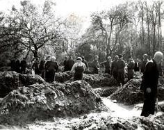 Ludwigslust, Germany, German civilians and POWs forced to bury corpses of prisoners from Wobbelin camp.