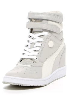 7fabe110630 two tone white wedge sneakers White Wedge Sneakers