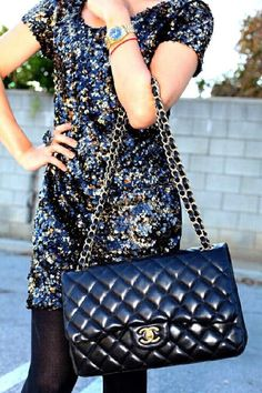 Sequins + Chanel = perfection