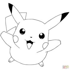 Best Image of Coloring Pages Pokemon . Coloring Pages Pokemon Pokmon Go Coloring Pages Free Coloring Pages Pikachu Tattoo, Pikachu Drawing, Blank Coloring Pages, Cool Coloring Pages, Free Printable Coloring Pages, Pokemon Coloring Sheets, Pikachu Coloring Page, Pikachu Pikachu, Black Pokemon