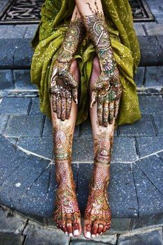After looking at this photo we will discuss what it is that is on her hands and feet and will look at other examples. We will then discuss other cultures who do things similar to this and the different occasions or celebrations this may occur during.                                                                                                                                                      More