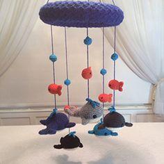 Whale Mobile - Crochet Pattern by @lisakingsley4 | Featured at Lisa Kingsley Designs - Sponsor Spotlight Round Up via @beckastreasures | #fallintochristmas2016 #crochetcontest #spotlight #crochet #roundup