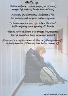 I read this everyday and it hurts to know that you are being bullied =(