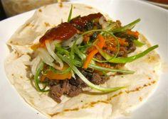 Yobodish Korean Recipes: Bul Go Gi Taco... Mango Salsa and Ginger Sesame Sauce