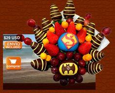 Fruta Golosa, arreglos frutales quito, arte en fruta, fresa chocolate