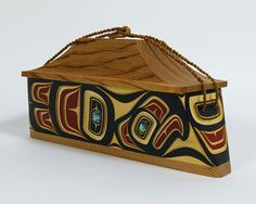 James Michels, Cree Nation, BC Canada: canoe box with abalone