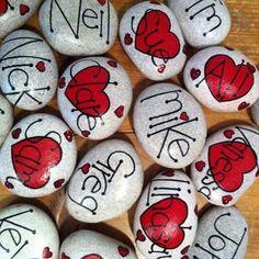 Valentine Painted Rocks 33