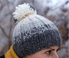 Learn how to knit a hat perfect for the harsh temperatures ahead with the Winter's First Snow Beanie. This incredibly easy knit hat pattern features combines beauty and simplicity to create a lovely knitted hat you'll love wearing! Easy Knitting Patterns, Loom Knitting, Knitting Socks, Free Knitting, Knitting Projects, Crochet Projects, Knitted Hats, Crochet Patterns, Knit Or Crochet