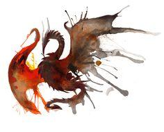 Ink Dragon by RubisFirenos.deviantart.com on @DeviantArt