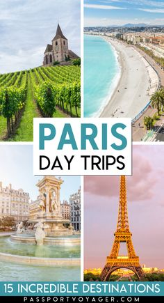 Looking for some day trips from Paris to make a quick escape from the hustle and bustle of the city? Check out 15 of the easiest day trips from Paris in our brand new guide! Paris France Travel, Paris Travel Guide, Europe Travel Tips, Travel Destinations, Traveling Europe, Backpacking Europe, Asia Travel, Solo Travel, Travel Guides