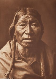 Edward Curtis spent many years profiling tribesmen and women and their way of life in images such as this one of a Cheyenne male from 1908