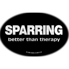 Sparring- better than therapy!!! Karate rocks!!