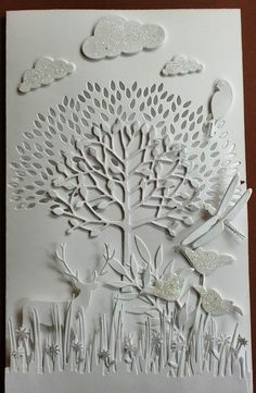 Copy of #MemoryBox Arboscello Tree Card by Charminglycreative, via Flickr  http://stampingwithbibiana.blogspot.com/