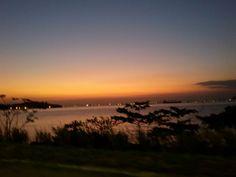 Por do sol próximo a ponte Rio Niteroi