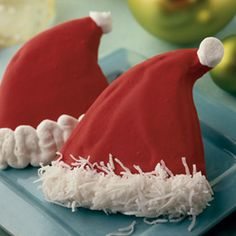 Santa hat sugar cookies.