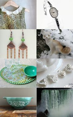 White and Green by Laura P. on Etsy--Pinned with TreasuryPin.com