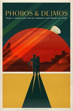 Nasa Travel Posters A3 size. Full set of 4! by BrickPixels on Etsy https://www.etsy.com/listing/258447822/nasa-travel-posters-a3-size-full-set-of