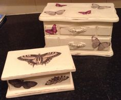 Shabby chic jewellery boxes