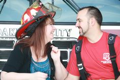 Engagement picture. Helmet was heavier than I thought