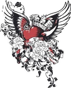 35 best gothic heart tattoos images on pinterest heart tattoos rh pinterest com gothic black heart tattoos Gothic Love Tattoos