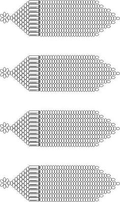 Free printable design template for brick stitch fringe earring. Print, color, bead. #Seed #Bead #Tutorials