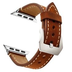 Mkeke: Brown Leather 38mm Apple Watch Band- $5.99  FSSS #LavaHot http://www.lavahotdeals.com/us/cheap/mkeke-brown-leather-38mm-apple-watch-band-5/118024
