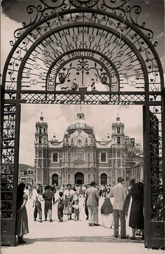 Vintage photo - entrance to Our Lady of Guadalupe