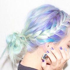 Pastel braided hair