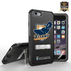 Licensed Cal State Fullerton Tri Shield Rugged Case with Kickstand, Mascot Logo