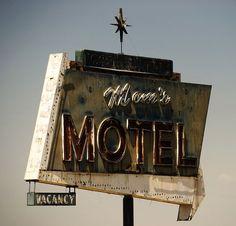 Mom's Motel - vintage atomic neon sign