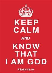 ...and know that I am God