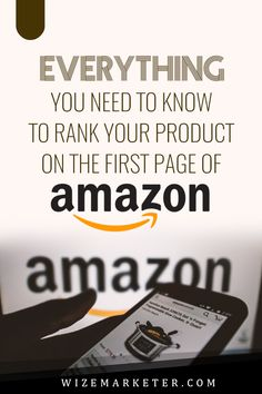Everything you need to know to rank your product on the first page of #amazon, product ranking, page ranking, amazon fba, amazon fba products, #seo, search engine optimization, amazon best sellers, amazon best products, online products to sell, #ecommerce Make Money On Amazon, Sell On Amazon, How To Make Money, Amazon Online, Carte Cadeau Itunes, What To Sell Online, Ecommerce, Retail Arbitrage, Amazon Fba Business